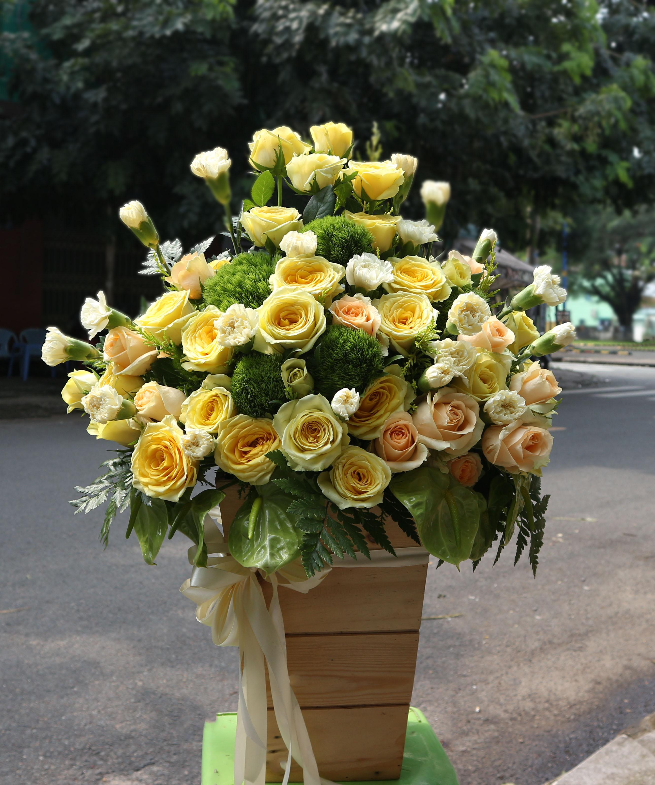Hộp hoa tươi HHT18