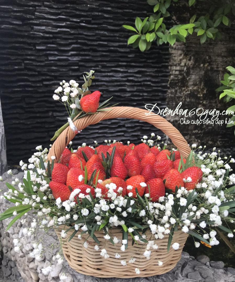 Giỏ hoa trái cây 18