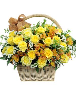 Giỏ hoa tươi GHT03