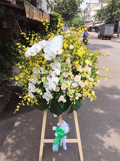 Hoa mừng khai trương  HKT002