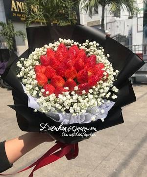 Bó hoa dâu tây 16
