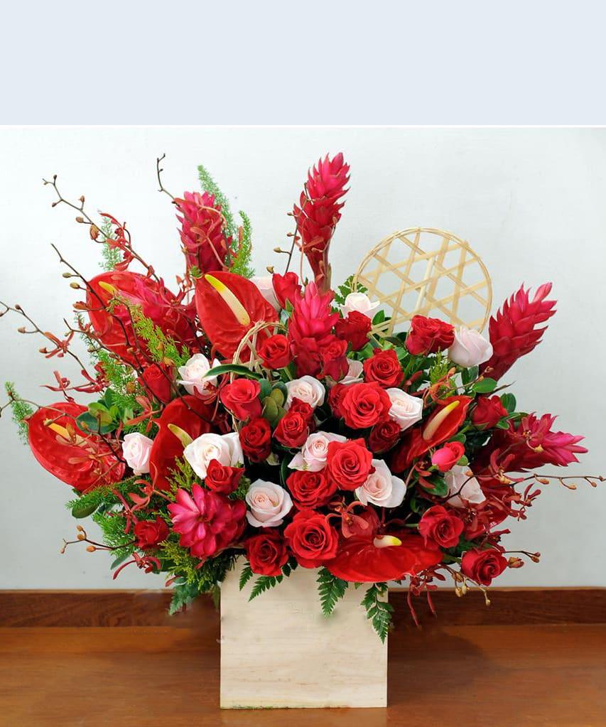 Hộp hoa tươi HHT09