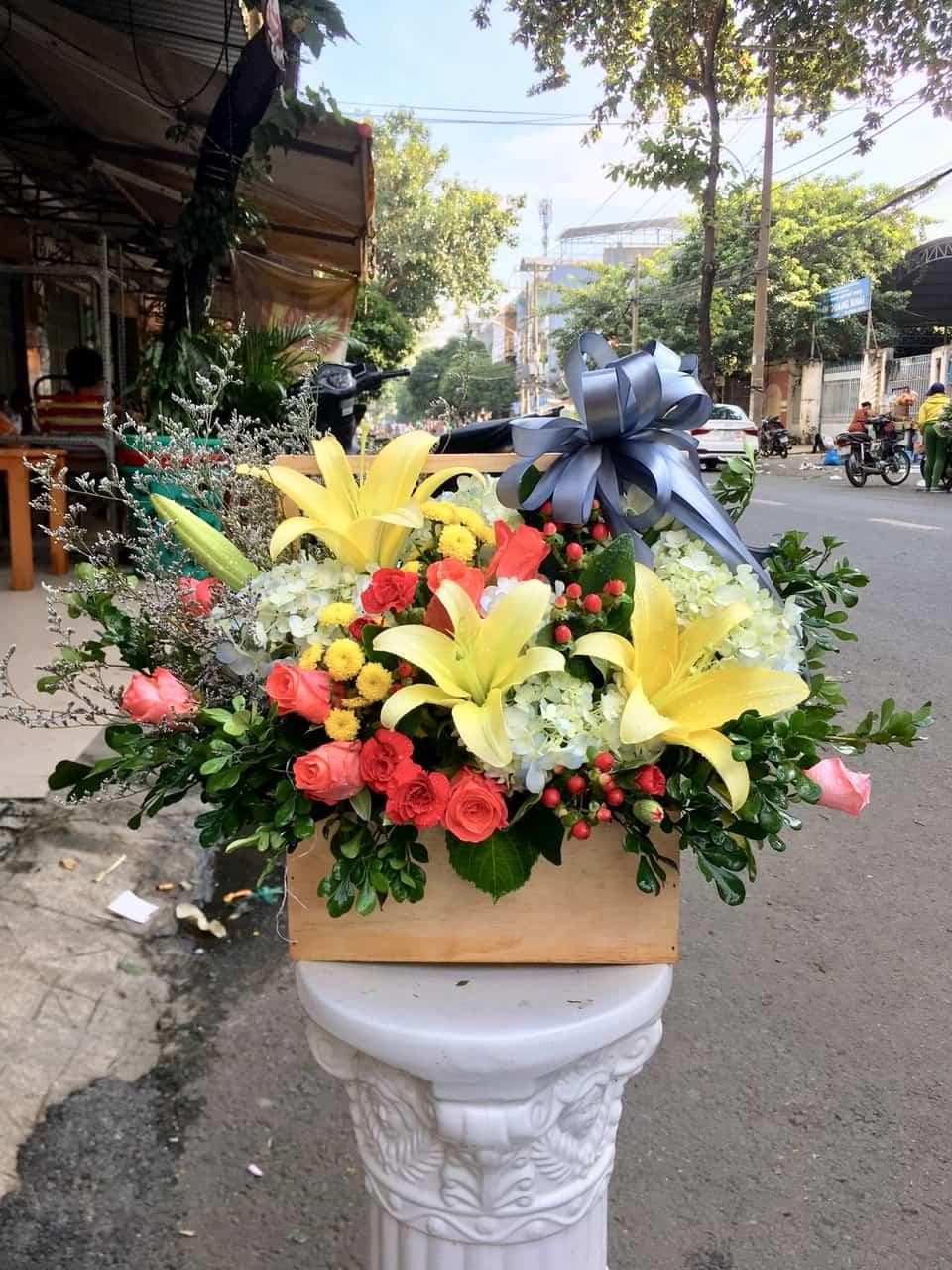 Hôp hoa tươi HHT03