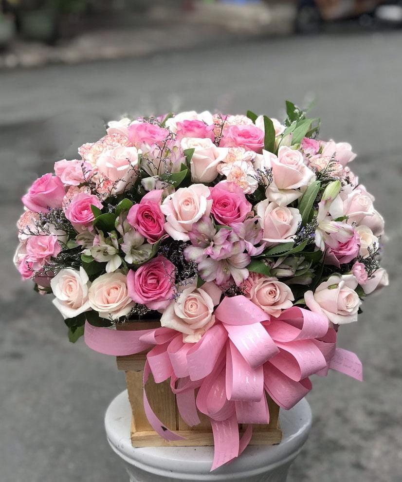 Lẵng hoa tươi HHT026